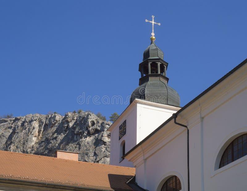 Barokowy Benedyktyński monaster, klasztor i kościół, Saint John pod falezą, Svaty Jan strąk Skalou, Beroun, centrala obrazy royalty free