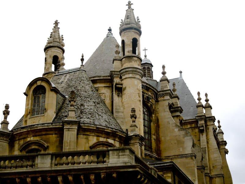 Barokowy Francuski dwór na Białym tle zdjęcia royalty free