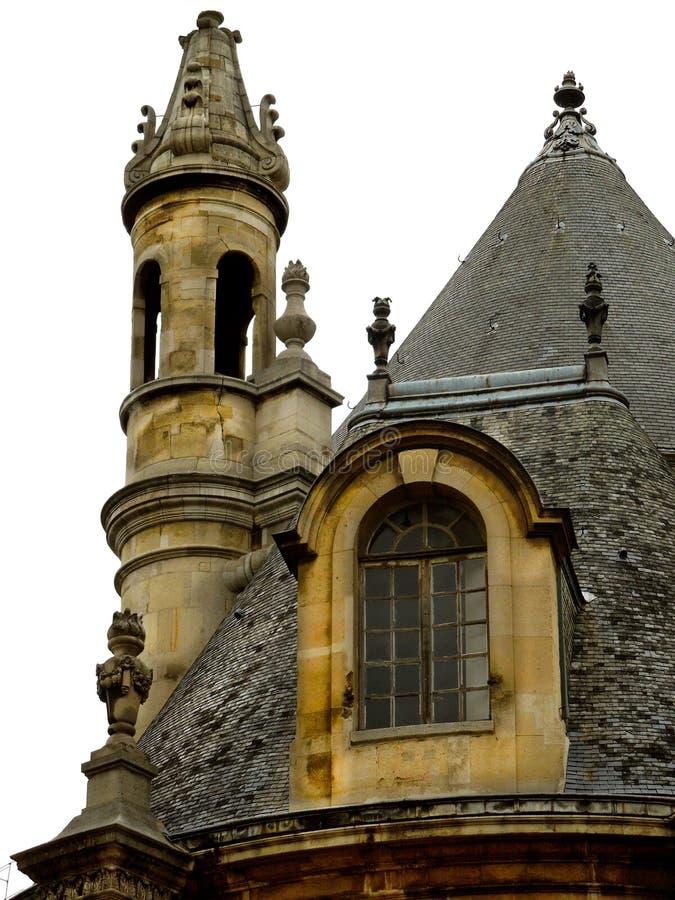 Barokowy Francuski dwór na Białym tle Pionowo zdjęcie stock