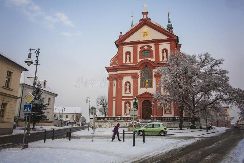 Barokowy kościelny święty Mary, Brandys nad Labem Stara Boleslav obraz royalty free