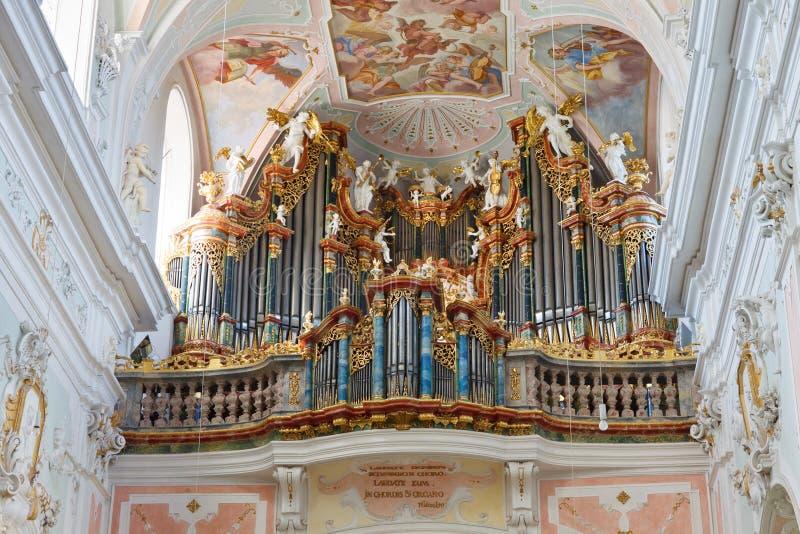 barokowy kościelny organ obraz royalty free