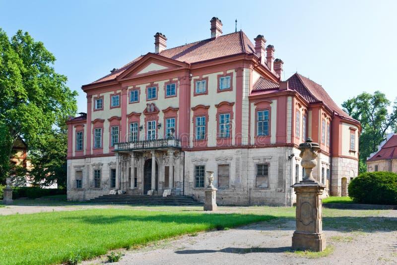 Barokowy Libechov kasztel blisko Melnik, Środkowa cyganeria, republika czech fotografia stock