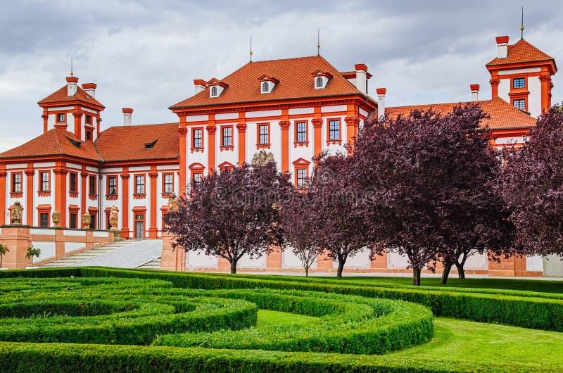 Barokowy pałac w Praga fotografia royalty free