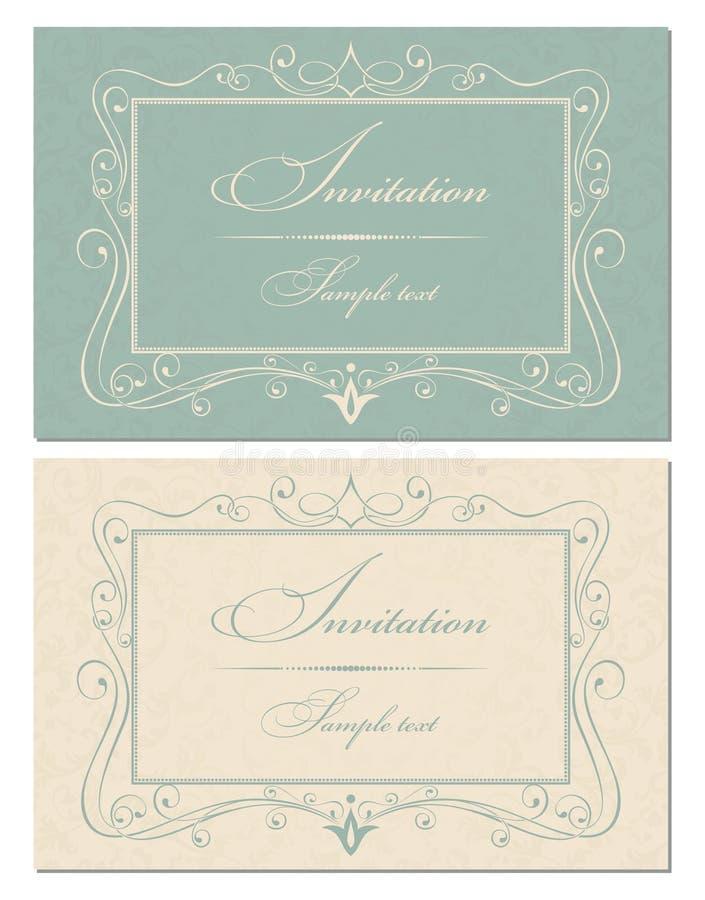 baroku kart zaproszenia styl royalty ilustracja