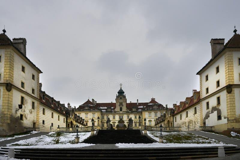 Baroku kasztel w Valtice, Moravia, republika czech zdjęcia stock