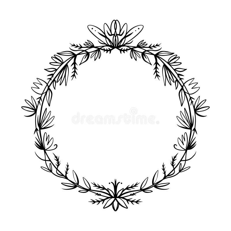 Baroku ramowy dekoracyjny szczegółowy bogaty luksusowy ornament royalty ilustracja