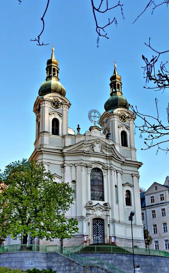 Baroku St Maryjny Magdalene kościół, Karlovy Zmienia zdjęcie royalty free