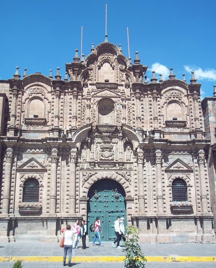 Baroku stylowy kościół w Cuzco, Peru zdjęcie stock