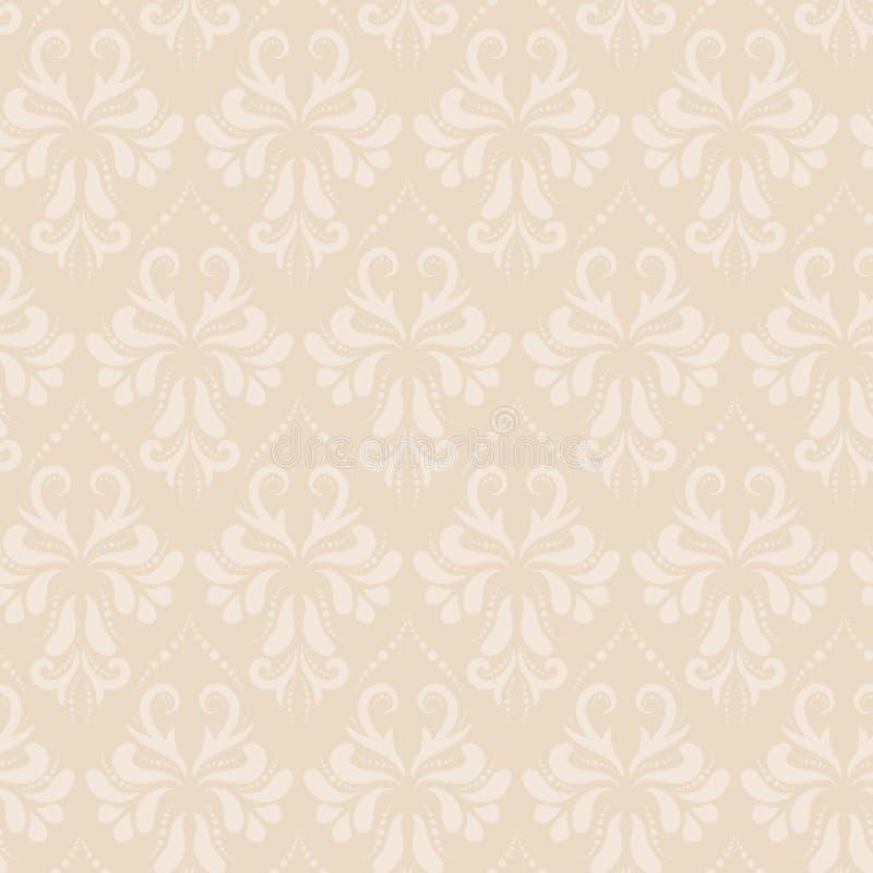 Baroku stylu adamaszka wektorowy bezszwowy wzór ilustracji