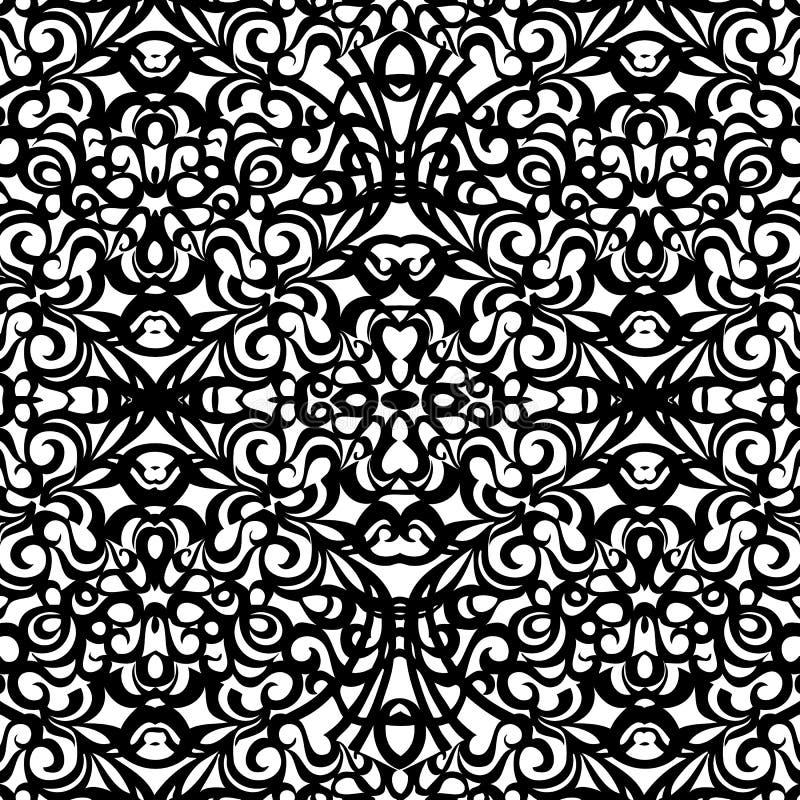 Baroku stylu wzór, wektorowy bezszwowy wzór ilustracji
