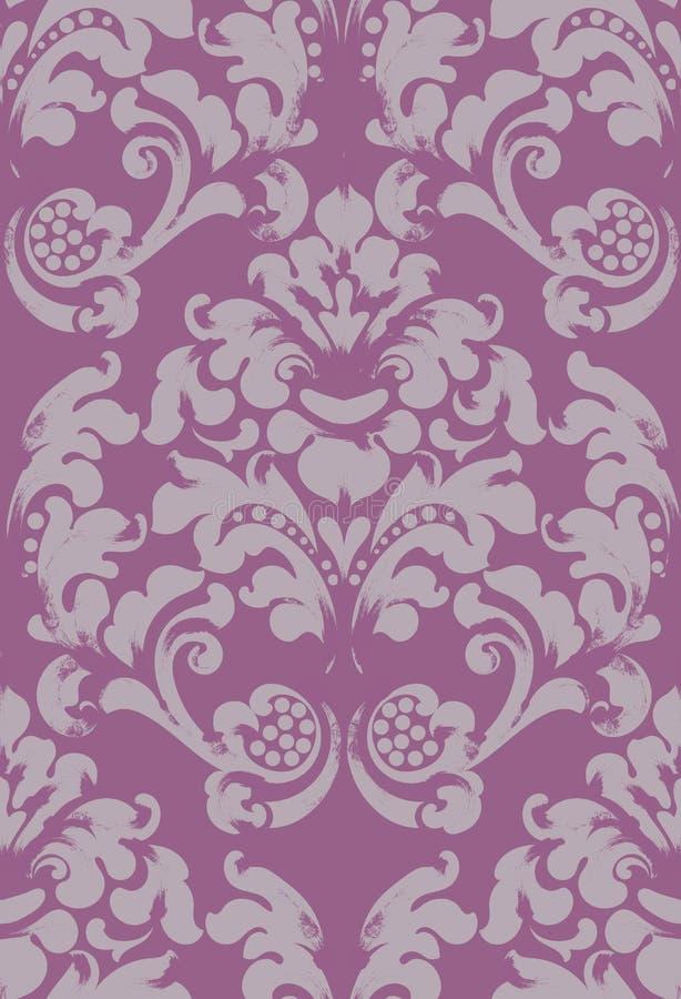 Baroku tła zdobny wektor Wiktoriańska Królewska tekstura projekta dekoracyjny kwiat runda ramowy Purpura barwi wystroje royalty ilustracja