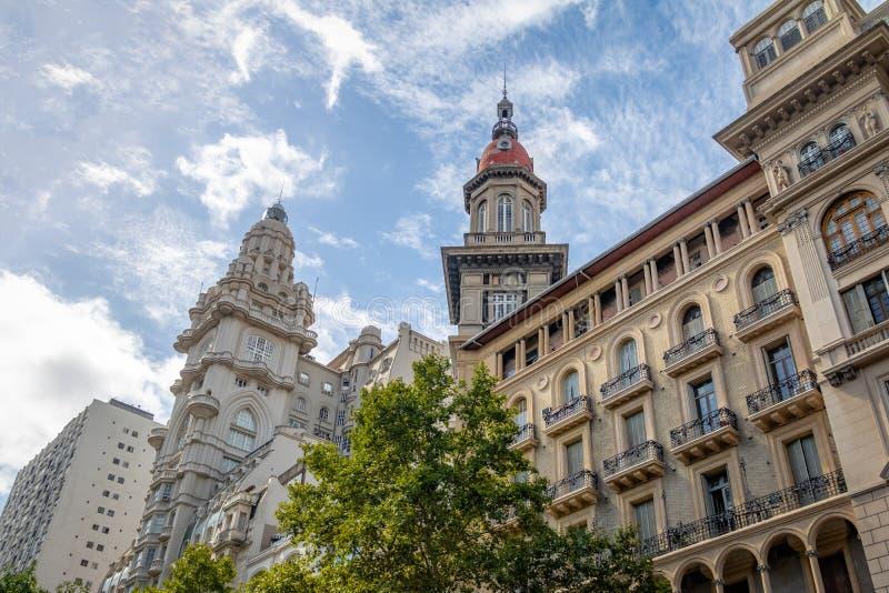 Barolo slott- och LaInmobiliaria byggnader - Buenos Aires, Argentina royaltyfri fotografi