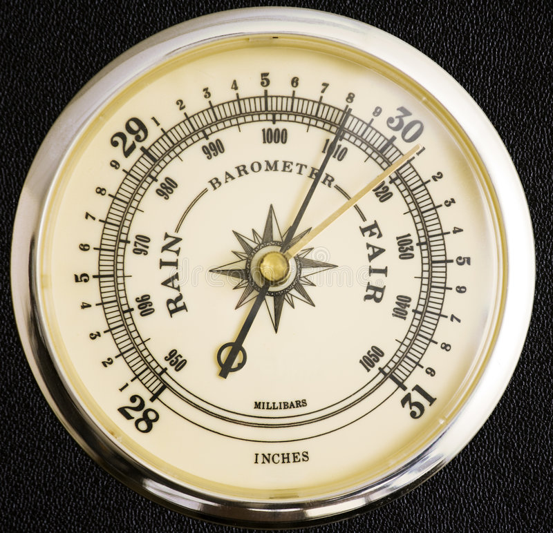 barometer royaltyfri foto