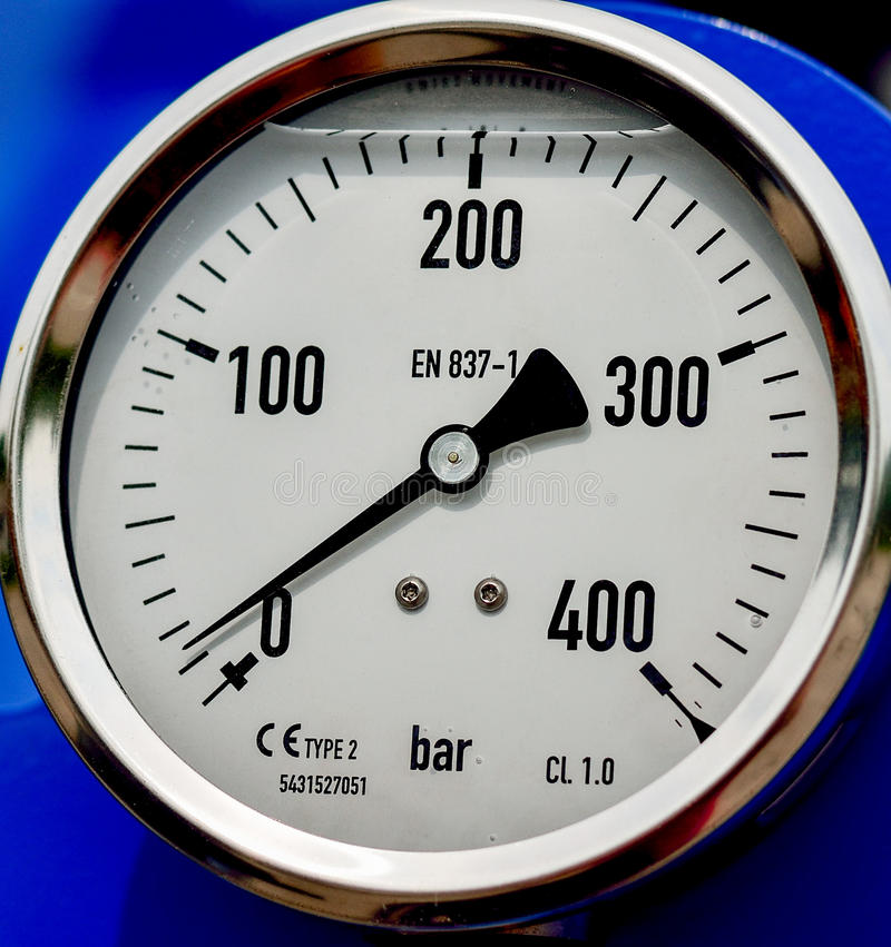 Barometer in de landbouwindustrie royalty-vrije stock foto