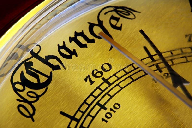 Barometer der Änderung lizenzfreies stockbild