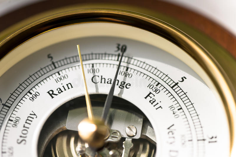 Barometer Change stock photo