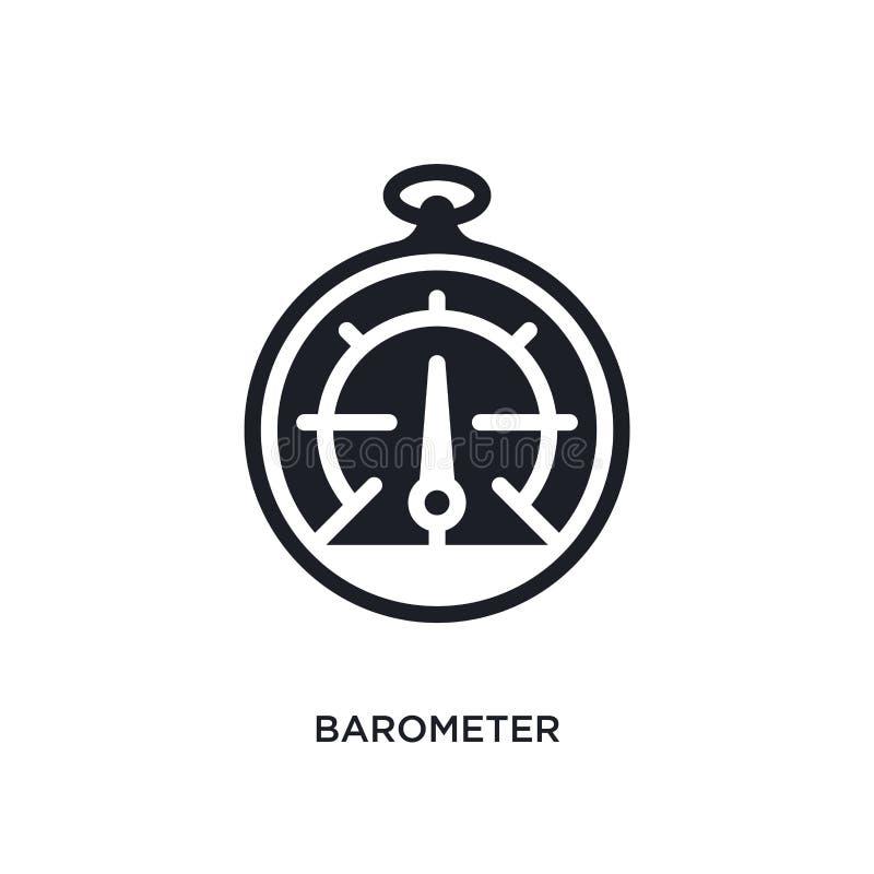 barometer geïsoleerd pictogram eenvoudige elementenillustratie van zeevaartconceptenpictogrammen ontwerp van het het tekensymbool vector illustratie