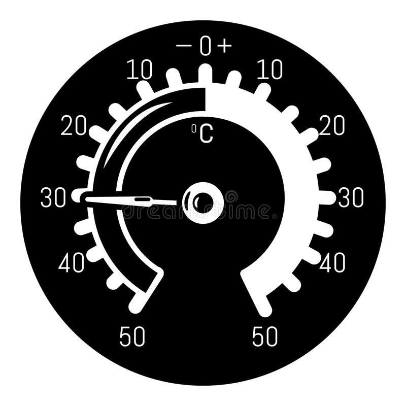 Barometer icon, simple style. Barometer icon. Simple illustration of barometer vector icon for web royalty free illustration