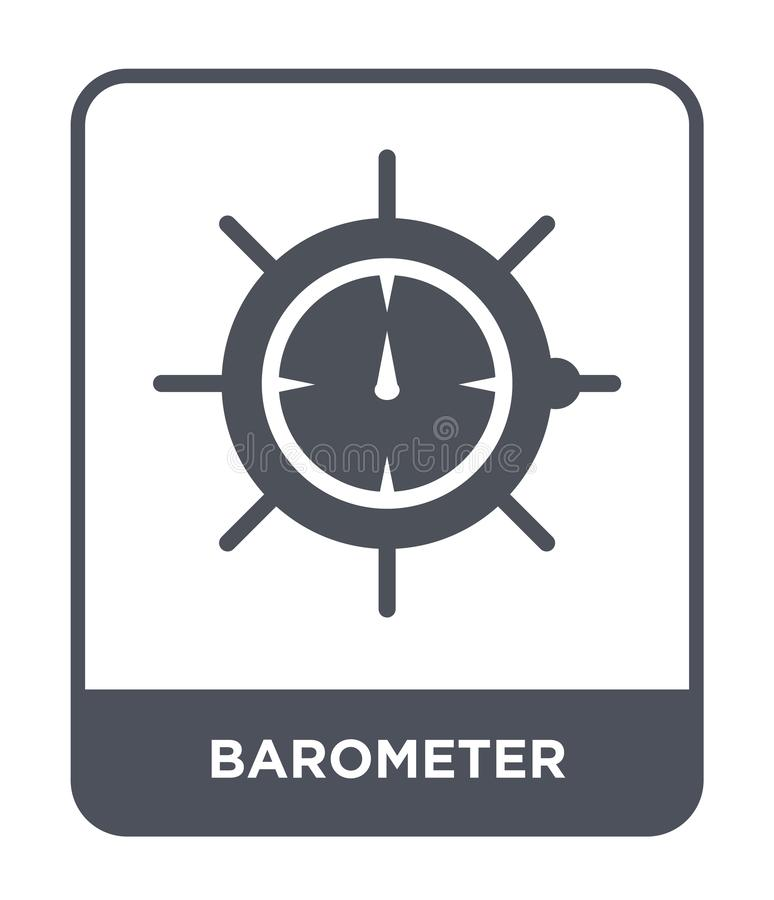 Barometer icon in trendy design style. barometer icon isolated on white background. barometer vector icon simple and modern flat. Symbol for web site, mobile royalty free illustration