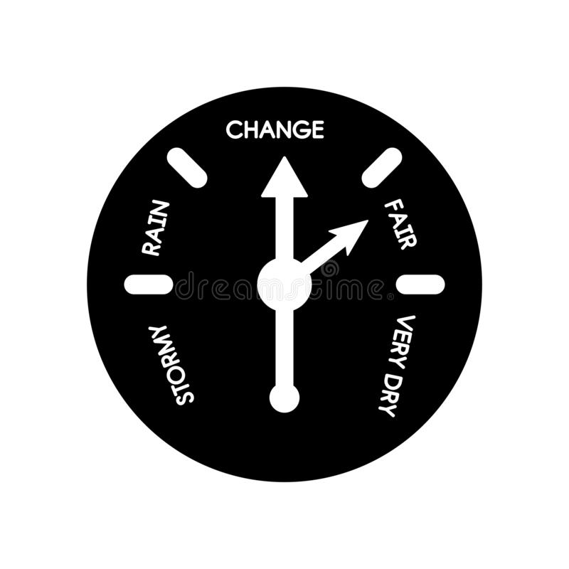 Barometer icon. Trendy Barometer logo concept on white background from Nautical collection. Suitable for use on web apps, mobile apps and print media royalty free illustration