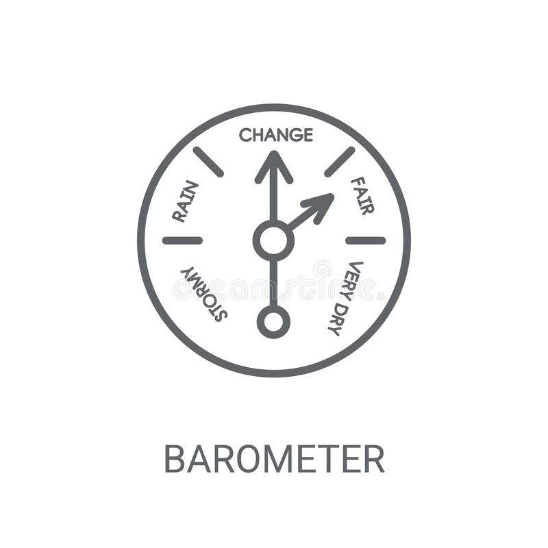 Barometer icon. Trendy Barometer logo concept on white backgroun. D from Nautical collection. Suitable for use on web apps, mobile apps and print media royalty free illustration