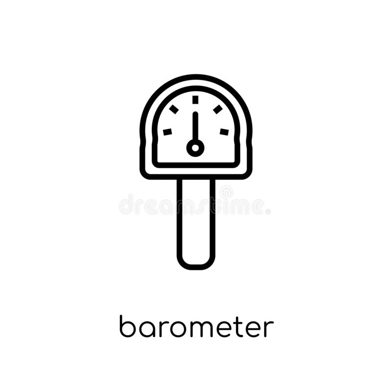 Barometer icon. Trendy modern flat linear vector Barometer icon. On white background from thin line Nautical collection, editable outline stroke vector royalty free illustration