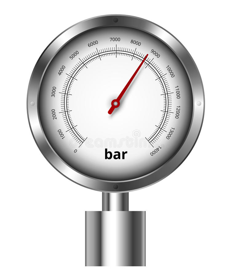 Barometer. Industrial manometer vector illustration royalty free illustration