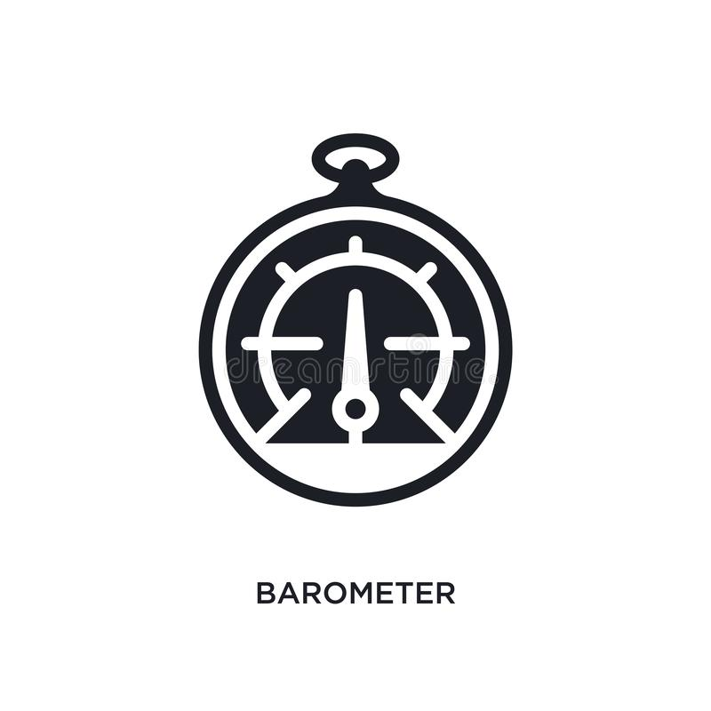 Barometer isolated icon. simple element illustration from nautical concept icons. barometer editable logo sign symbol design on. White background. can be use vector illustration