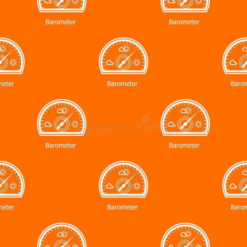 Barometer pattern vector orange. For any web design best royalty free illustration
