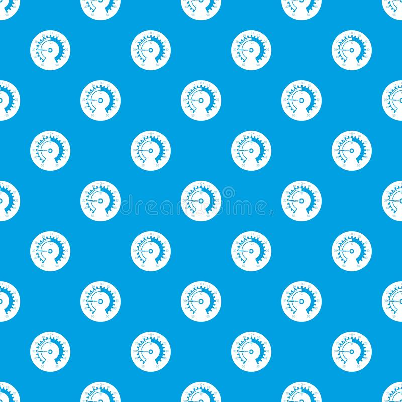 Barometer pattern vector seamless blue. Repeat for any use royalty free illustration