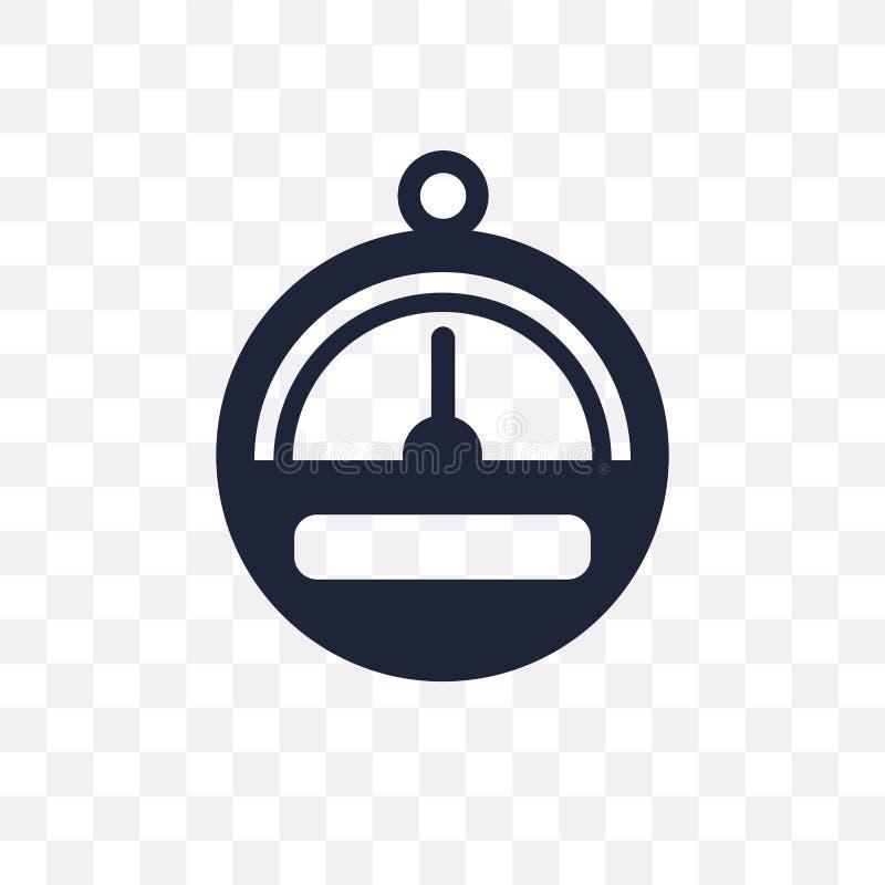 Barometer transparant pictogram Het ontwerp van het barometersymbool van Nautica vector illustratie
