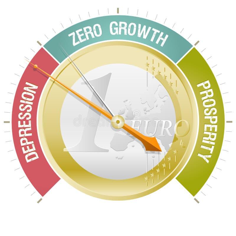 Barometer van de Europese crisis stock illustratie