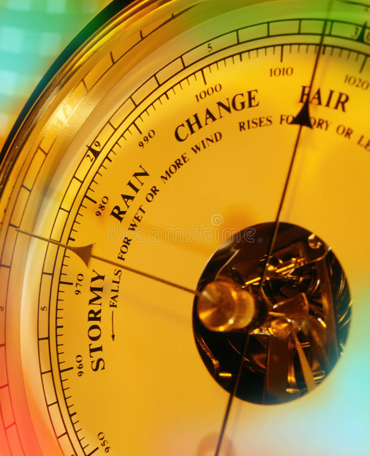 Aneroid Barometer - Weather Forecast stock photo