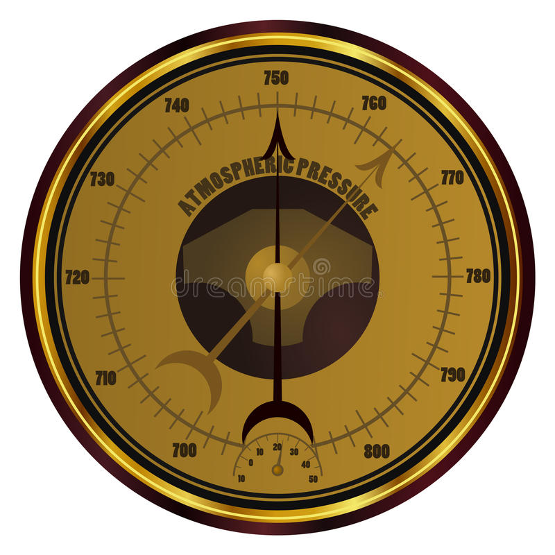 Barometer. On white background royalty free illustration