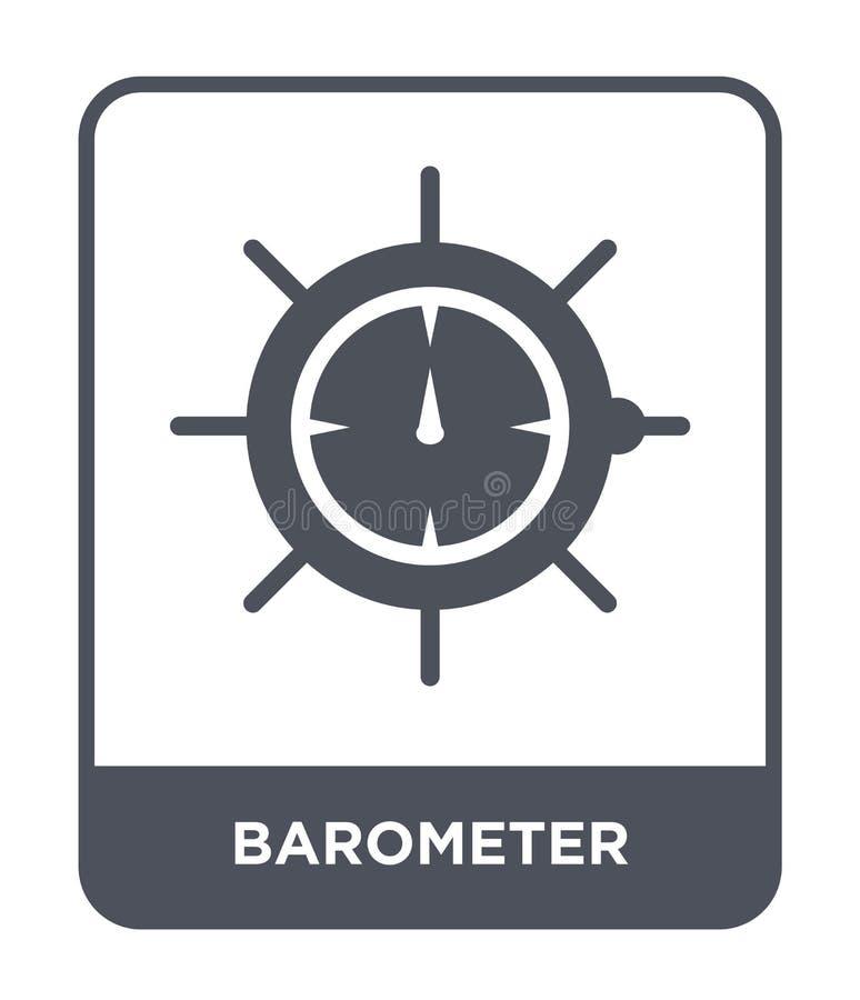 barometerpictogram in in ontwerpstijl barometerpictogram op witte achtergrond wordt geïsoleerd die eenvoudige en moderne vlakte v royalty-vrije illustratie