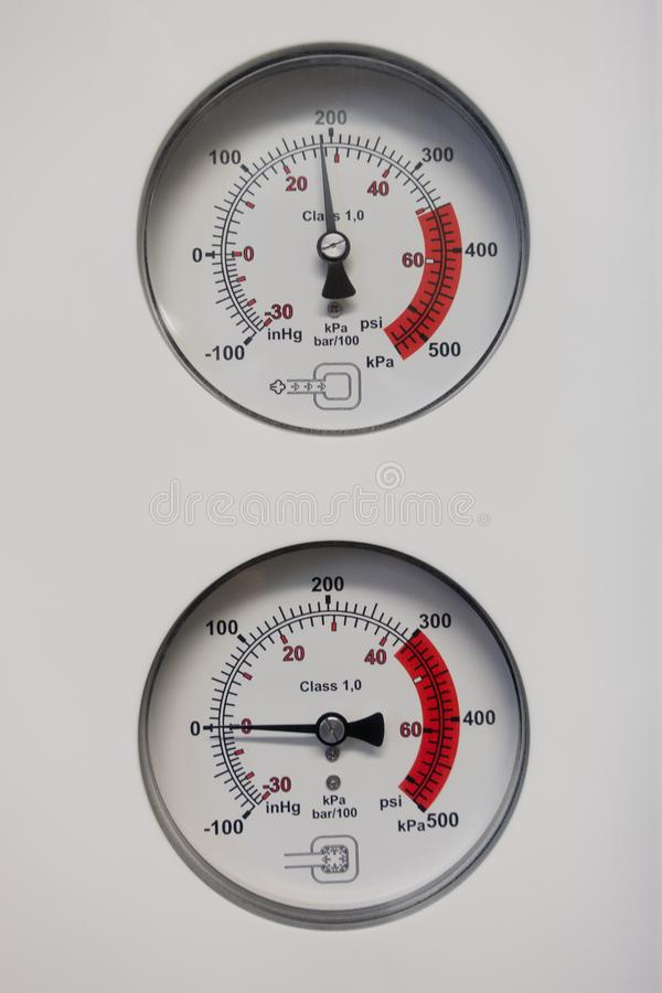 barometers indicate the pressure stock photography