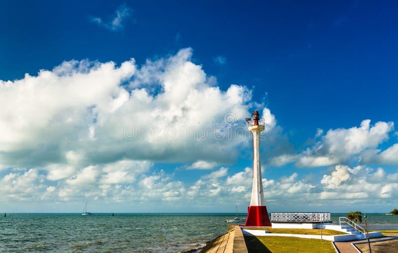 Baron Bliss Lighthouse dans la ville de Belize photo stock