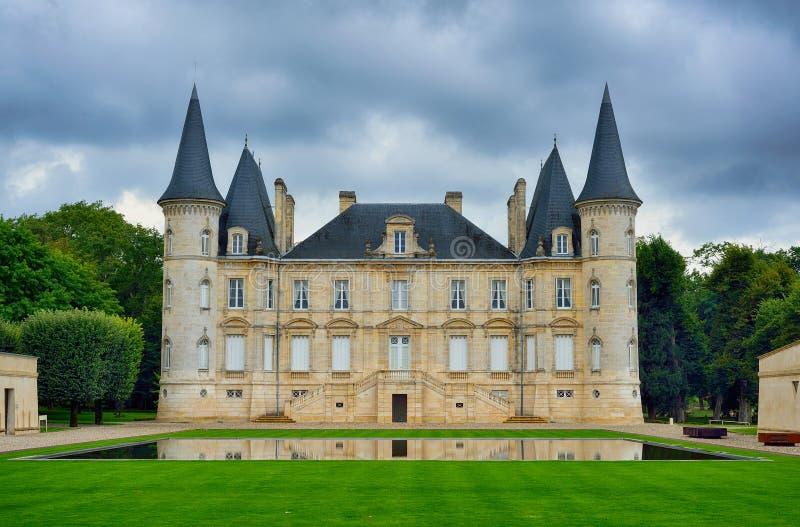 Baron de Pichon Longueville de château image stock
