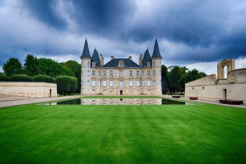 Baron de Pichon Longueville de château photographie stock