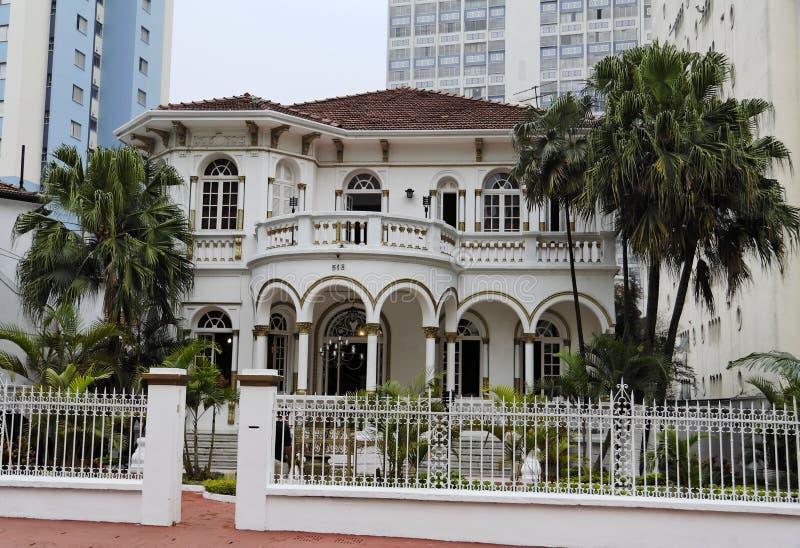 Baron Mansion del caffè a Sao Paulo immagine stock libera da diritti