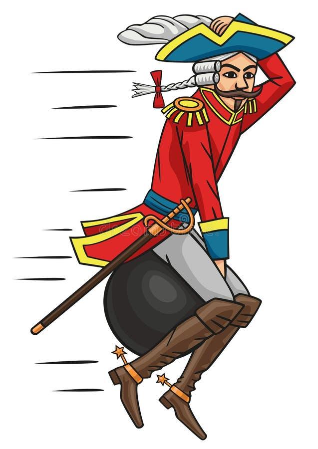Baron Munchausen. ilustração royalty free