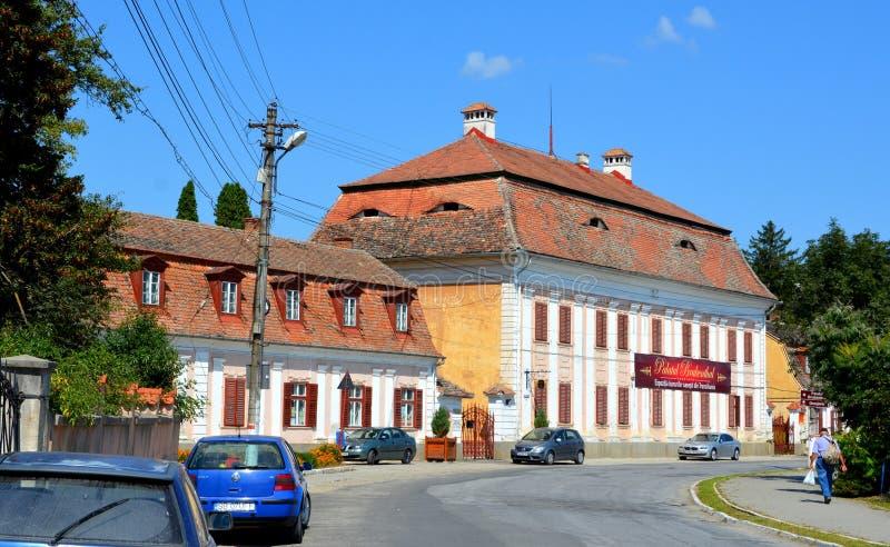 Baron von Brukenthal Palace in Avrig, la Transilvania fotografie stock libere da diritti