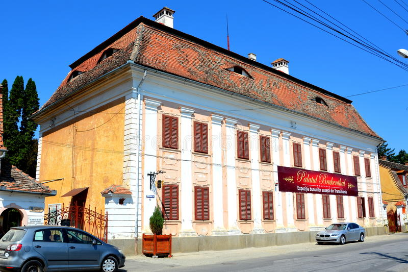 Baron von Brukenthal Palace en Avrig, Transilvania fotos de archivo