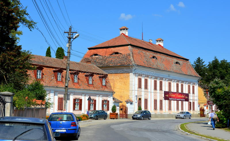 Baron von Brukenthal Palace en Avrig, Transilvania fotos de archivo libres de regalías