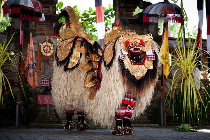Barond dans Bali Indonesien arkivfoto