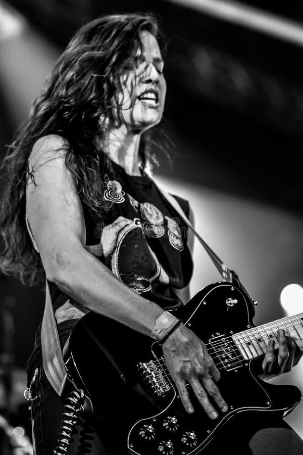 Baronesa, concierto vivo Hellfest 2017 de Gina Gleason imágenes de archivo libres de regalías