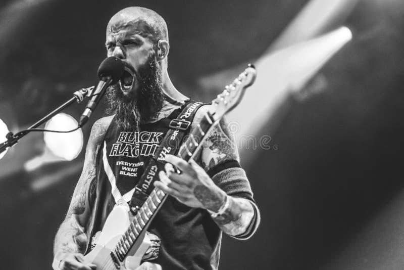 Baronesa, concierto vivo Hellfest 2017 de John Baizley fotos de archivo