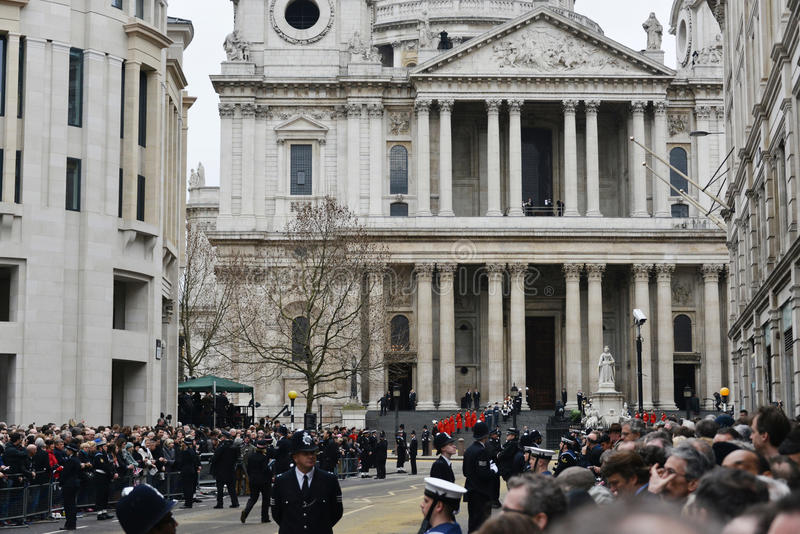 Baroness Thatcher's funeral royalty free stock photography
