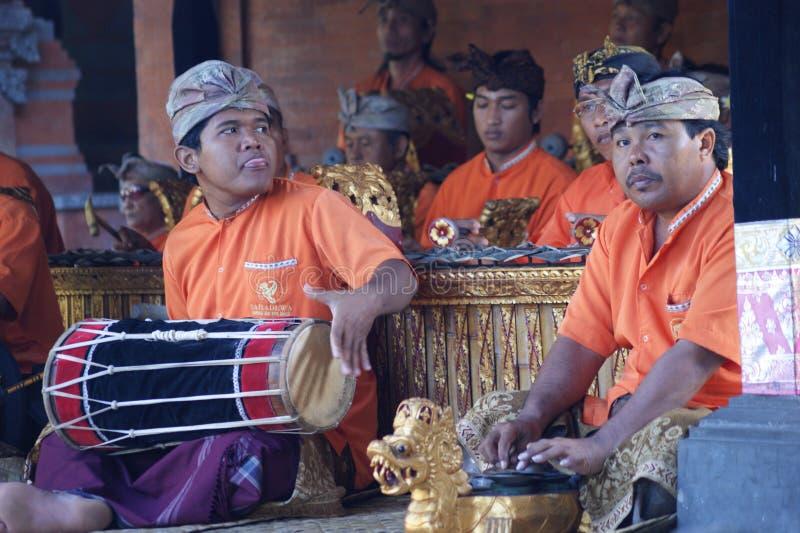 Barong舞蹈展示,巴厘岛 免版税图库摄影