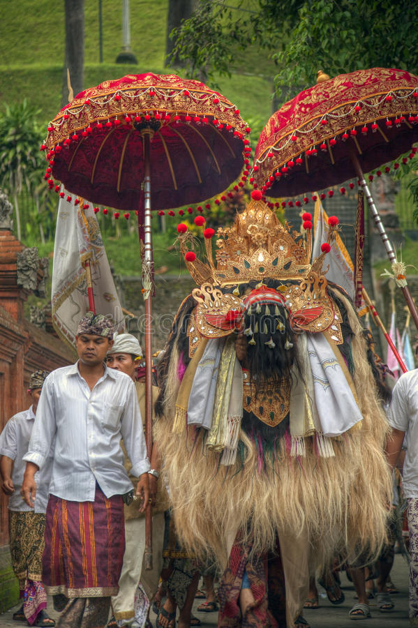 Barong και χωρικός στη γέννηση Tampak, Μπαλί, Ινδονησία στοκ φωτογραφία με δικαίωμα ελεύθερης χρήσης